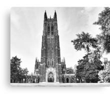 Black and White of Duke Chapel Canvas Print