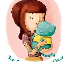 Girls love Cats. Blue Cats by colonelle