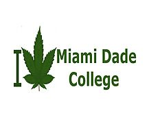 I Love Miami Dade College by Ganjastan