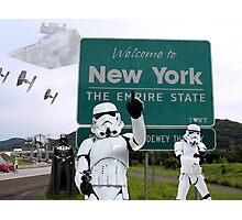 New York Welcome Photographic Print