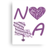 I heart NOLA (Purple) Canvas Print