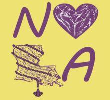 I heart NOLA (Purple) by StudioBlack