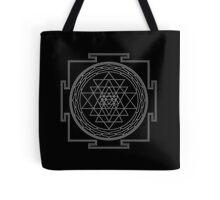 Glowing Sri Chakra Pillow - Black Tote Bag