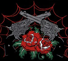 Guns & Roses by damasktattoo