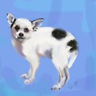 Dog Chihuahua Blue by Go van Kampen