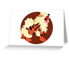 Arcanine - Basic Greeting Card