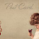 Post card - Vintage girl by © Kira Bodensted