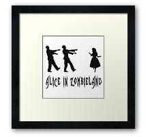 Alice in Zombieland Framed Print