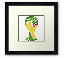 FIFA World Cup Logo Brazil 2014 Framed Print