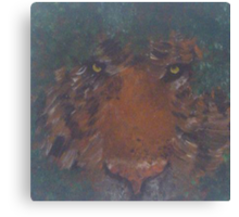 Oil Painted Tiger Canvas Print