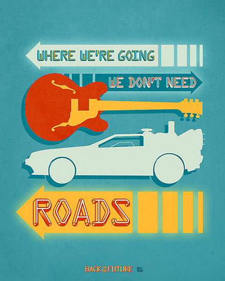 Back To The Future Illustration by Rachel Krueger