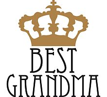 Best Grandma Queen Crown Logo by Style-O-Mat