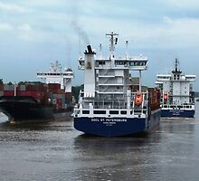 Kiel Canal : Two Way Traffic by Trish Meyer