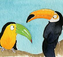 Two Toucans by archyscottie