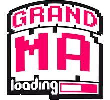 8 Bit Pixel Geek Nerd Loading Grandma by Style-O-Mat