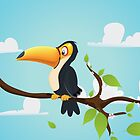 Vintage cartoon Toucan Cartoon by Nick  Greenaway