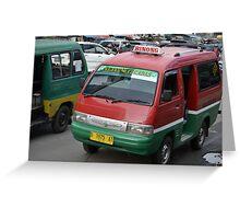 angkot-public transportation in bandung Greeting Card