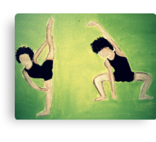 Dancers Warm Up Cool Canvas Print