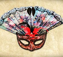 Mask and Hand Fan by MMPhotographyUK