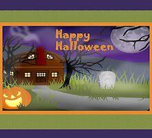 Happy HalloweenSpooky House by valleygirl