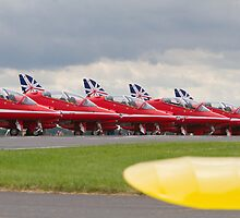 Red Arrows at Biggin Hill Air Festival 2014 by Keith Larby