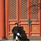 Big red doors, Beijing, China by JCMM