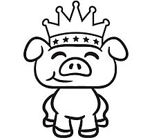Prince Crown piglet piggy by Style-O-Mat