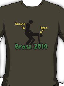 Holland vs Spain Brasil world cup football 2014 T-Shirt