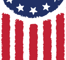 Old World Justice Flag Sticker