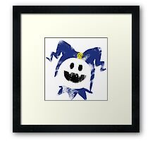 Frosty Splat! Framed Print