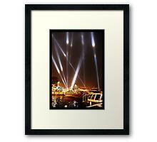 Dark Mofo 2014 - Articulated intersect - Hobart light show Framed Print