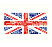 Landmark and Flag Art Print