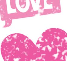 Cute love heart cameo distressed version Sticker