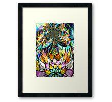Flower Fractal Life Framed Print