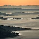 Misty Valley - Hill End NSW Australia by Bev Woodman