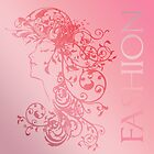 Fashion Female Flourish Tote Bag In Blended Pinks by Moonlake