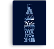 Live Strong - aqua Canvas Print