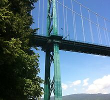 Lions Gate Bridge -- Vancouver, BC, Canada by travisferrell