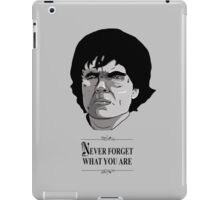 Never forget what you are iPad Case/Skin