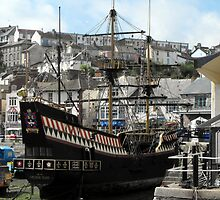 The Golden Hind at Brixham Harbour by alanf1