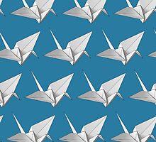 Origami Cranes by MadeleineKyger