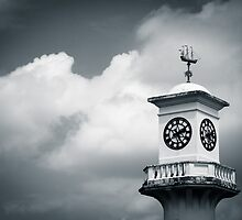 The Scott Memorial, Roath Park, Cardiff (B&W) by Jimardee