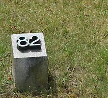 Tombstone number 82 - fort Terezín (National Suffering Memorial) - Person as just a number by Natas