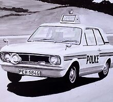 Ford Cortina Mk 1 Cop Car by sidfox