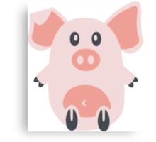 Cute Pig Canvas Print