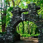Stone Archway at Gillete Castle by Bluejayarts