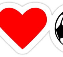 I love soccer ball Sticker