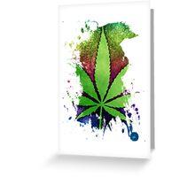 Pot Leaf Greeting Card