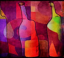 Three Bottle Amigos  by Rondanart