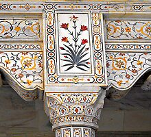 Marble Work at Agra Red Fort © by Ethna Gillespie